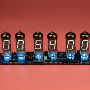 VFD Nixie Tube DIY Clock IV-11 PCB with IV-11 tubes